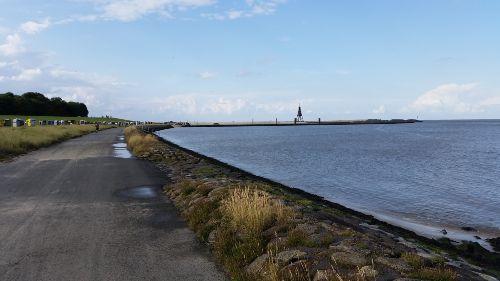 Fahrradweg von Cuxhaven zur Kugelbake