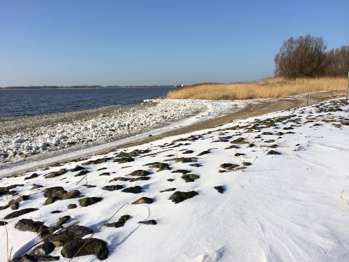 Strand im Winter