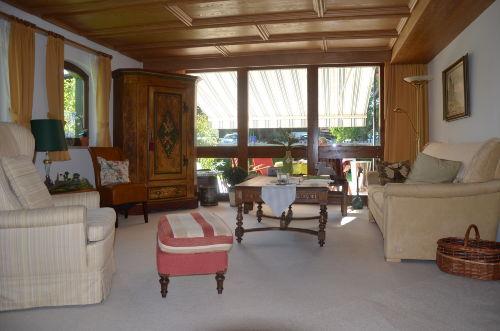 Wohnraum, wertvolle Allgäuer Holzdecke