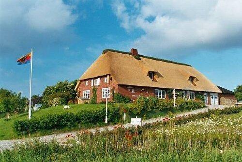 Reetdachhaus auf der Nordwarft