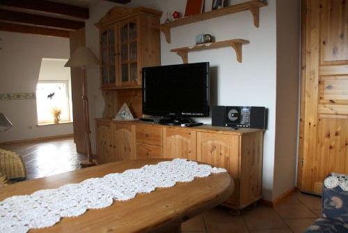 Wohnzimmer, TV-Flachbild, Stereo-Anlage