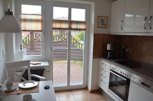 Küche mit Terrasse