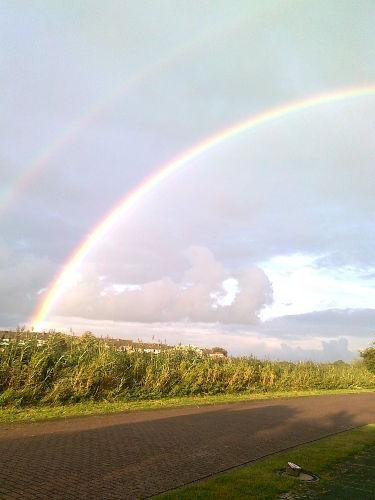 Regenbogen vor unserem Haus