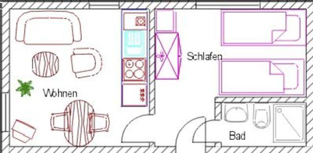 SY - Haus 'Auf der Heide', App. 4 - 2-Raum