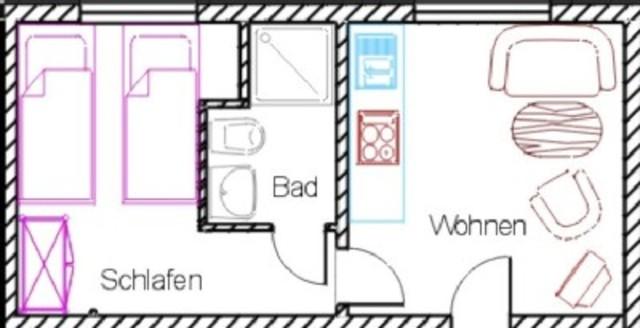 SY - Haus 'Auf der Heide', App. 5 - 2-Raum