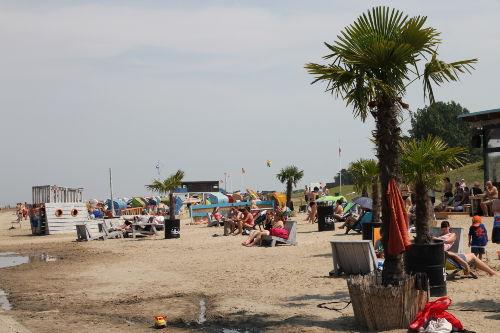Hier gibt es auch echte Palmen am Strand