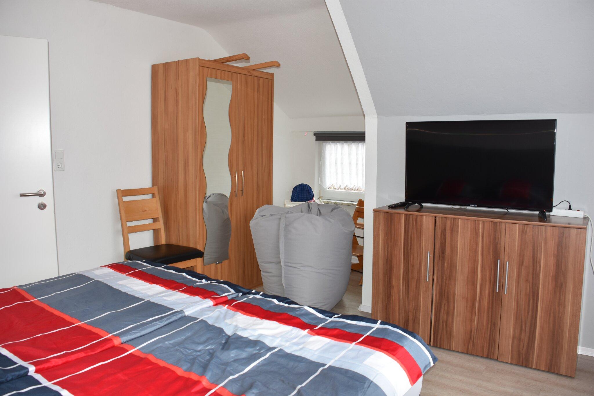 Wohn- Schlafzimmer mit Schlafcouch