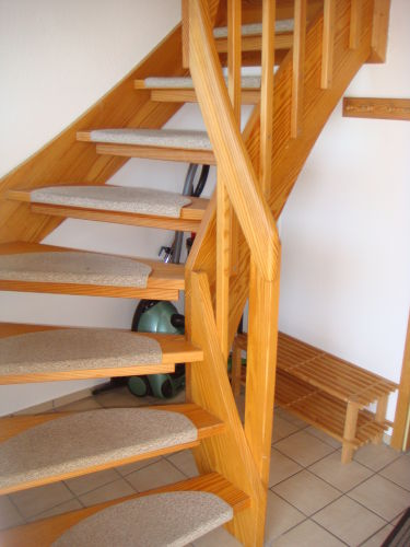 Treppe ins Obergescho�