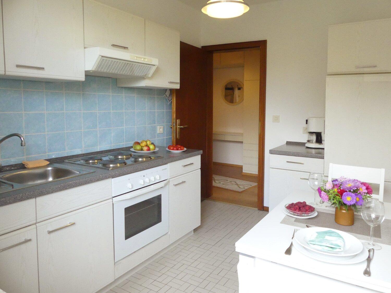 Küche mit Essplatz - Ferienwhg-R-Wojahn