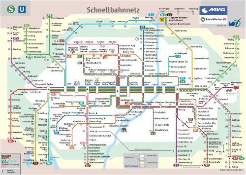 U-Bahn und S-Bahn-Plan München