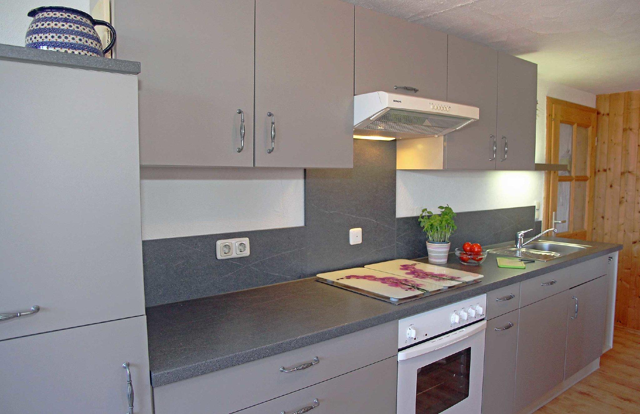 bestens ausgestattete Einbauküche