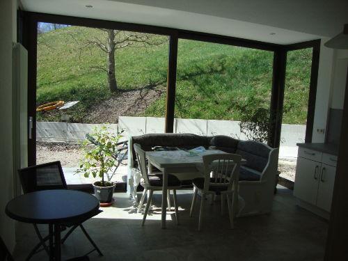Blick nach draußen. Terrasse demnächst f