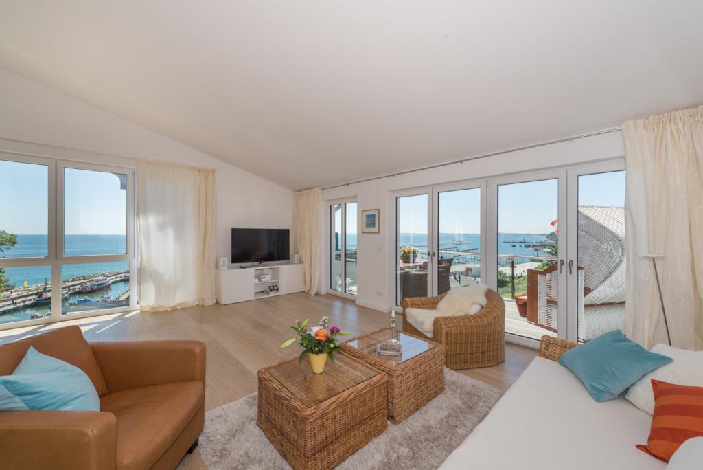 Bel Etage in der Villa Amelie am Meer, Penthouse B