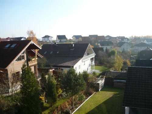 Blick von Dachterrasse auf Ortsteil
