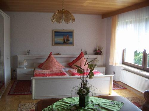 Zimmer mit Parkett und Edelholzdecke