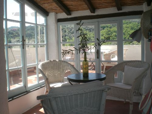 Veranda- Blick vom Wohnraum