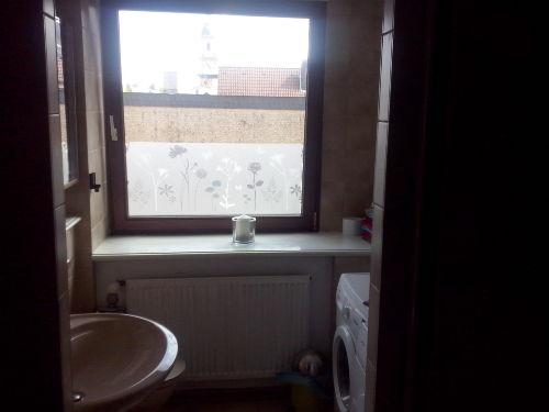 Badezimmer mit Fernblick