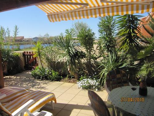 Blick von der Terrasse zur Lagune