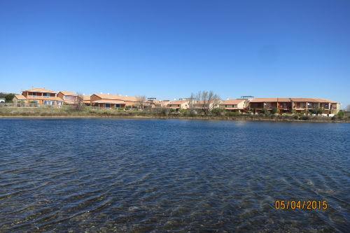Blick über die Lagune zum Haus