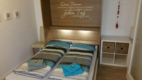 Schrankbett 160cm breit für 2 Personen