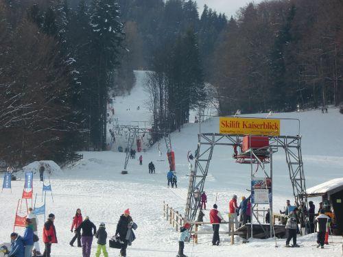 Skilift in Fußnähe