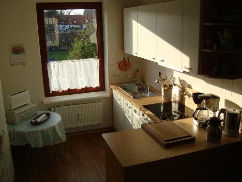 Küche mit Blick auf den Garten