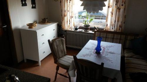 Küche, mit Blick auf den Stellplatz