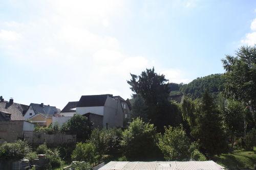 Blick von der Dachterrasse ins Grüne
