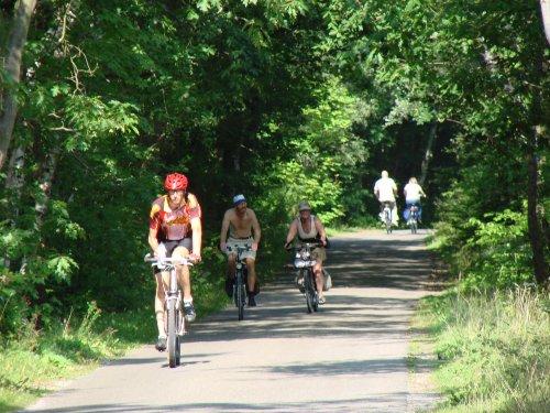 Zu fuss oder mit Rad zum Strand