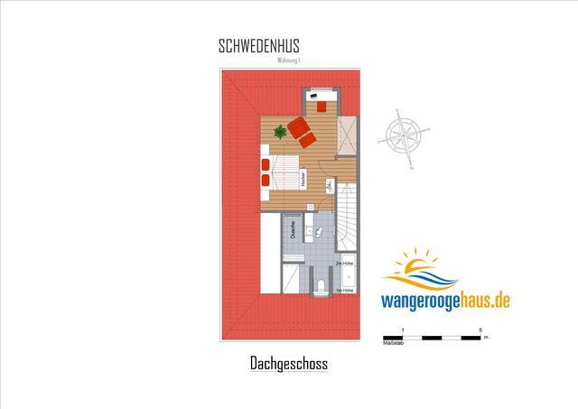 Schwedenhus 1, exklusive neue Whg, Terrasse, 12 Pe