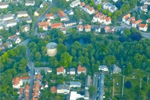 Zwinger und Wallanlagen aus der Luft