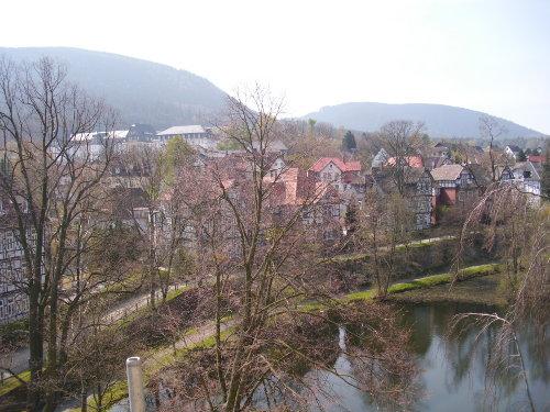 Blick auf Kahnteich und Rammelsberg