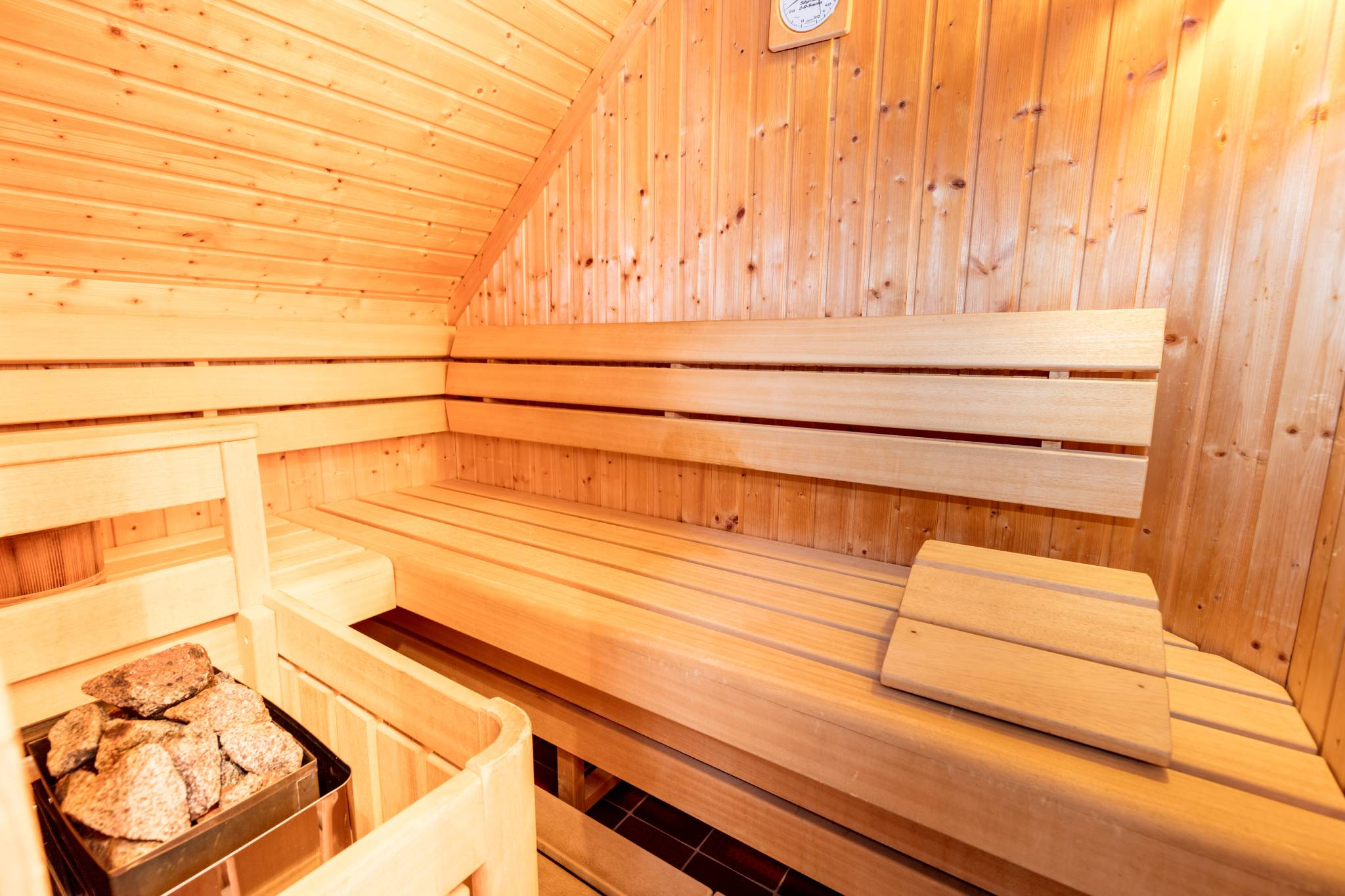 Napoleonvilla Sauna im Obergeschoss