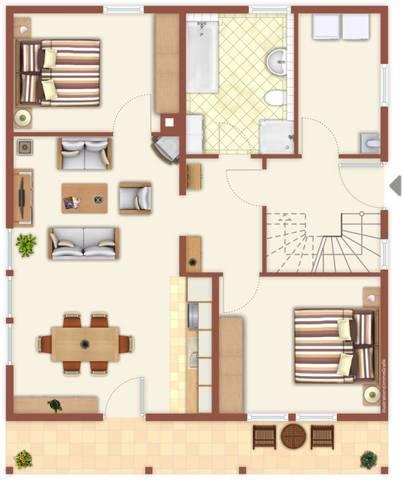 Haus Dreisbach mit 4**** Komfort, Wohnung EG Trass