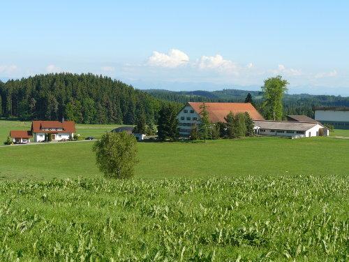 Panoramablick auf unseren Bauernhof