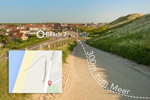 Strand nur 100 mtr. von Apartment Beach7