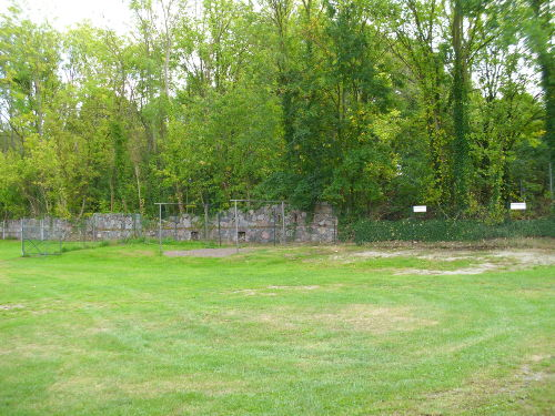 gr�ner Hofbereich mit PKW -Stellplatz