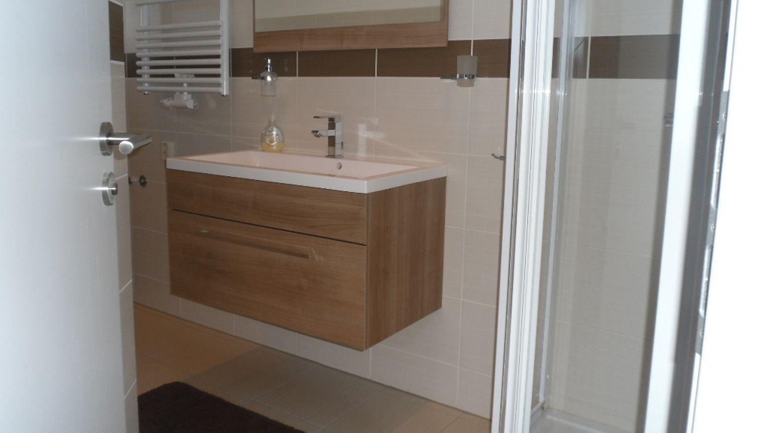 Das moderne Bad mit Dusche|WC