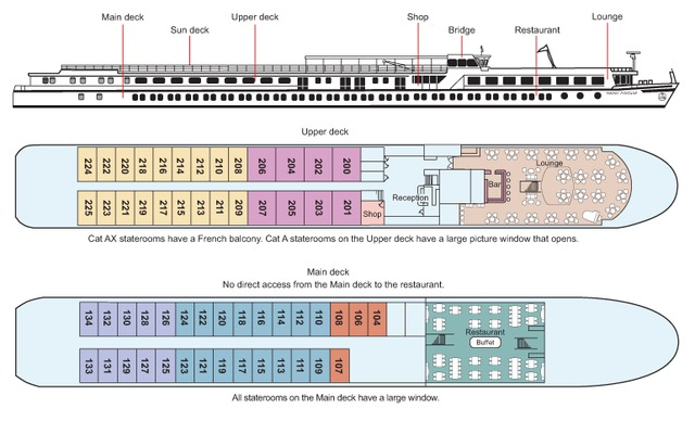 Hotelkabinenschiff, Doppelkabine 108