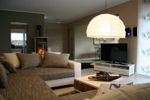 Wohnbereich mit Kamin Solling-Lounge I