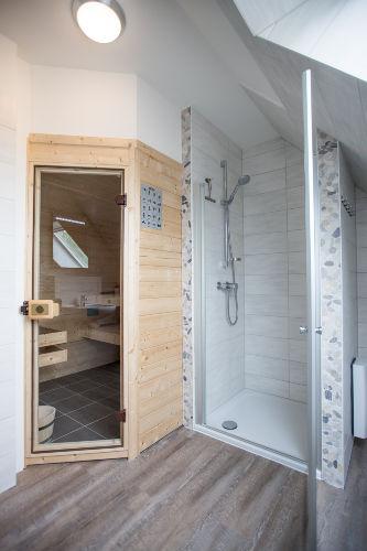 Finnische Sauna im Bad