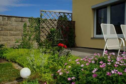 Terrasse und Grill Fewo Lindenheim