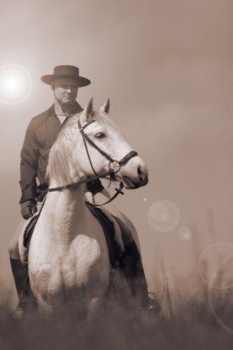 Henning Fr�hlich als spanischer Reiter