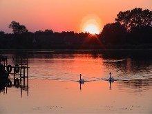 Abendstimmung am Neuendorfer See