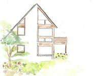 Haus ohne Namen in Nebel - kleines Detailbild