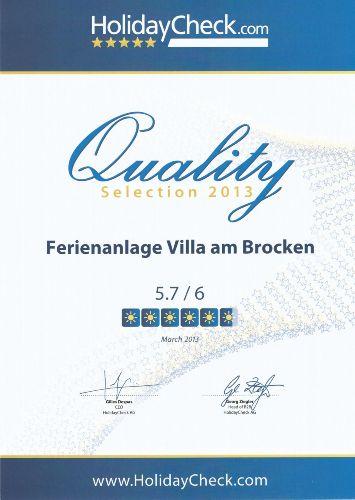 HolidayCheck-Qualitäts-Auszeichnung