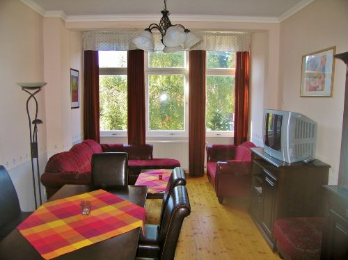 Wohnzimmer, Fewo mit 3 Schlafzimmern