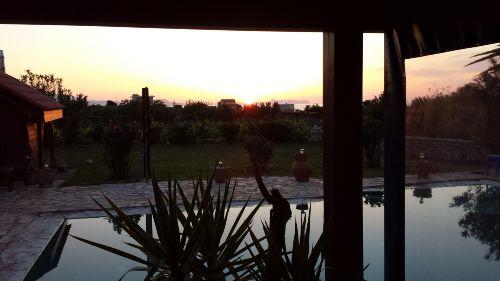 Sonnenuntergang von der Poolterasse