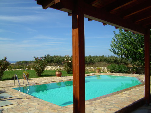 Blick auf Garten - Olivenhain - Meer