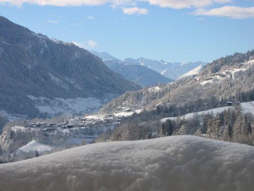 Aussicht ab Balkon im Winter